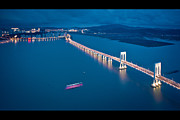 Letterbox Art - Sai Van Bridge At Night, Taipa, Macau, China by Yiu Yu Hoi