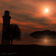 Lighthouse Digital Art - Sail At Dusk by Lourry Legarde