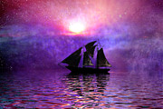 Mystery Digital Art - Sail Away by Carol and Mike Werner