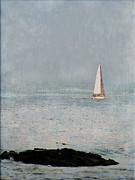 Sailboat Ocean Metal Prints - Sail Away Metal Print by Colleen Kammerer