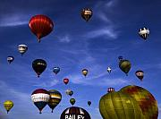Balloon Fiesta Framed Prints - Sail away with me hunny.... Framed Print by Angel  Tarantella