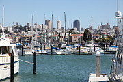Sail Boats Prints - Sail Boats At The San Francisco Marina - 5D18195 Print by Wingsdomain Art and Photography