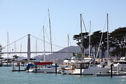 Catamaran Prints - Sail Boats At The San Francisco Marina - 5D18263 Print by Wingsdomain Art and Photography