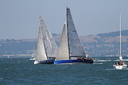 Sports Art - Sail Boats on The San Francisco Bay - 7D18323 by Wingsdomain Art and Photography
