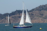 White Wing Framed Prints - Sail Boats on The San Francisco Bay - 7D18331 Framed Print by Wingsdomain Art and Photography