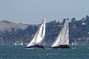 Sail Boats Prints - Sail Boats on The San Francisco Bay - 7D18333 Print by Wingsdomain Art and Photography