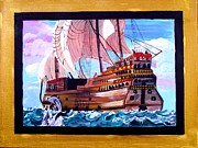 Gallion Framed Prints - Sail on a Dream Framed Print by Jayne Kerr