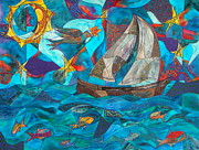 Sail Fish Prints - Sail On Oh Sailboat Print by Christine Bonnie Ghattas
