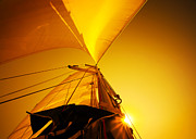 Mast Adventure Prints - Sail over sunset Print by Anna Omelchenko