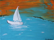 Sail The Sea Of Galilee  Print by Nancy Pace