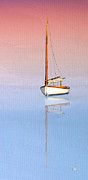 Catboat Framed Prints - Sail To Serenity Framed Print by Michael Petrizzo