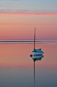 Sailboat Art - Sailboat And Buoy At Sunset by Betty Wiley