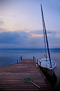Dock Prints Posters - Sailboat And Dock Poster by Steven Ainsworth