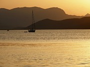 """sunset Photography"" Prints - Sailboat at sunset Print by Sophie Vigneault"