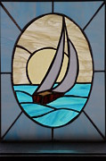 Ralph Hecht - Sailboat lead glass