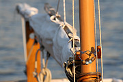 Nautical Images Posters - Sailboat Mast and Boom Poster by Juergen Roth