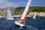 Provence Photos - Sailboat Regatta by Brian Jannsen