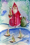 Sailboat Santa Print by Sylvia Pimental
