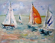 Julie Lueders Artwork Posters - Sailboat studies 3 Poster by Julie Lueders