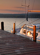 Finger Lakes Posters - Sailboat Sunrise II Poster by Steven Ainsworth