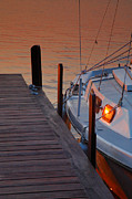 Docked Sailboat Prints - Sailboat Sunrise Print by Steven Ainsworth