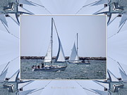 Warp Prints - Sailboats at Erie Basin Marina Print by Rose Santuci-Sofranko
