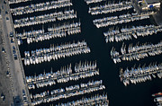 Repetition Photos - Sailboats at wharf by Sami Sarkis