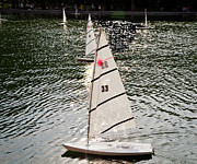 Water Play Art - Sailboats in Central Park by Madeline Ellis