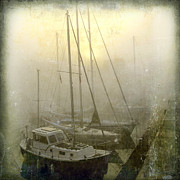 Boat Photos - Sailboats in Honfleur. Normandy. France by Bernard Jaubert