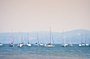 The New York New York Digital Art - Sailboats on the Hudson - Nyack New York by Bill Cannon