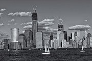 New York Skyline Art - Sailboats on the Hudson VI by Clarence Holmes