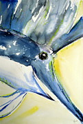 Sharks Paintings - Sailfish Triptych by Rachel Dutton