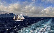 Sailing Ships Prints - Sailing Across the Mediterranean Print by Alex Hardie