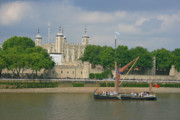 Print Card Posters - Sailing Along Tower of London Poster by Sydney Alvares