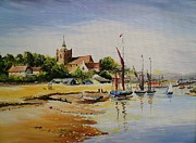 Tide Drawings Posters - Sailing At Maldon Poster by Andrew Read