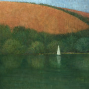 Yacht Paintings - Sailing at Trelissick by Steve Mitchell