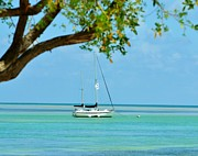 Isla Morada Prints - Sailing away to Key Largo Print by Rene Triay Photography