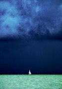 Threatening Prints - Sailing Beneath the Storm Print by Vicki Jauron