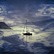 Back-light Prints - Sailing Boat Print by Joana Kruse