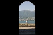 Sailing Boat Through An Open Door Print by Mats Silvan