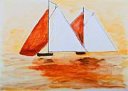 Simon Bratt Photography LRPS - Sailing Boats in Orange