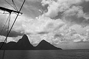 Graphic Originals - Sailing by the Pitons by Terence Davis