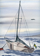 Moored Paintings - Sailing by Eva Ason