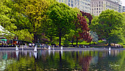 New York City Digital Art Originals - Sailing in Central Park New York by Russ Harris