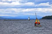 Sailing Boat Originals - Sailing In Vermont by James Steele