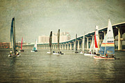 Ocean Springs Yacht Club Prints - Sailing Print by Joan McCool