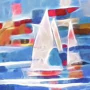 Sailing Joy Digital Print by Lutz Baar