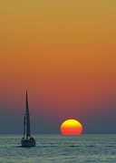 Rudder Prints - Sailing off into the Sunset Print by Robert Harmon