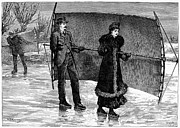 Sailing On Skates, 1880 Print by Granger