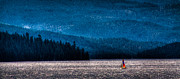 Sailing Priest Lake Print by David Patterson